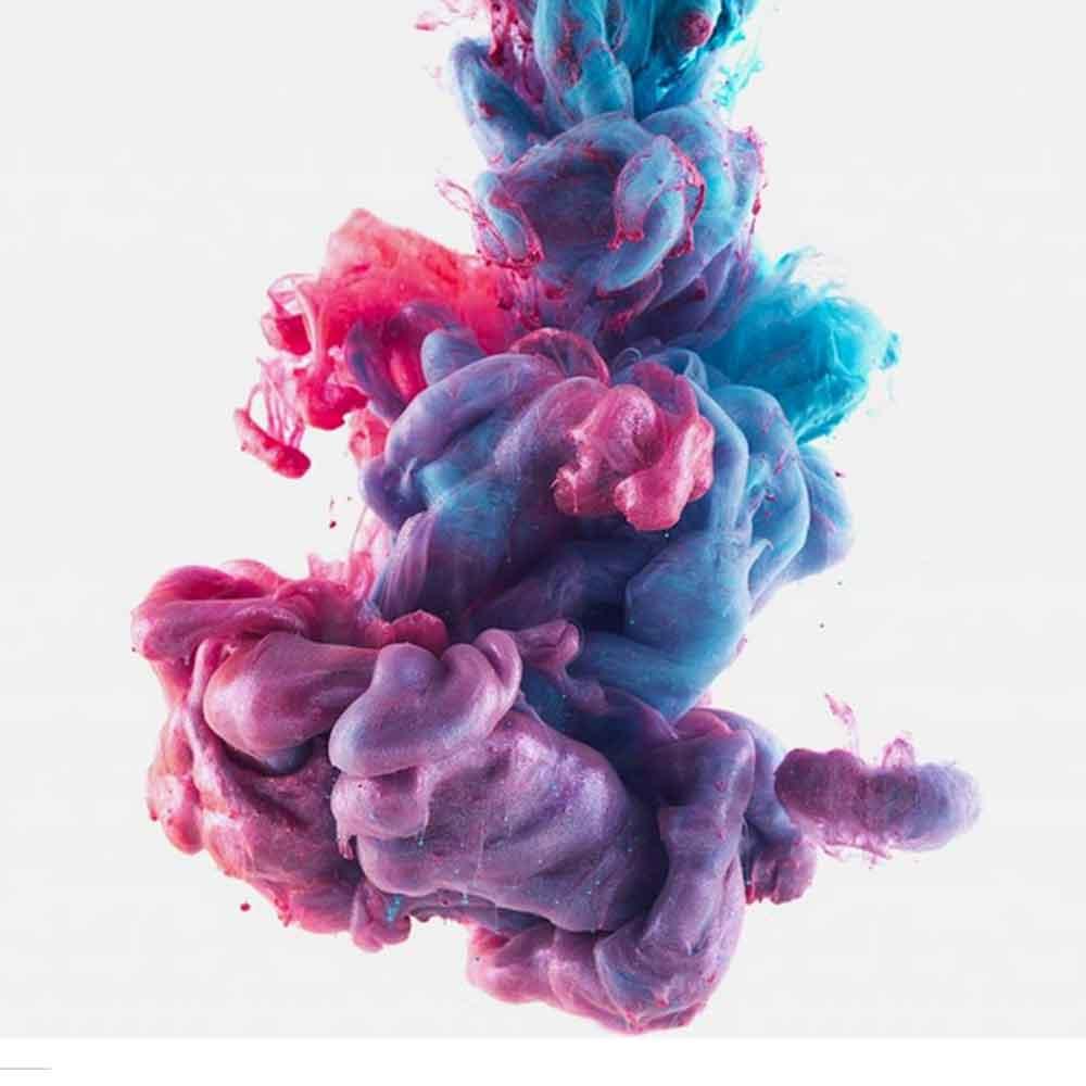 taches de couleur en forme de noeud pour illustrer le mouvement des news