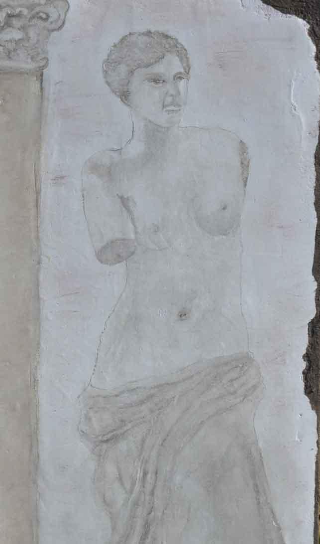 Fresque antique inspirée de la Venus de Milo