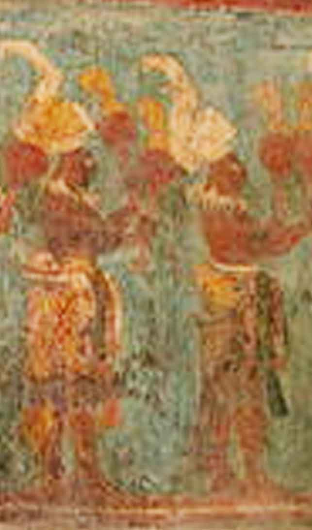 fresque maya de Bonampak